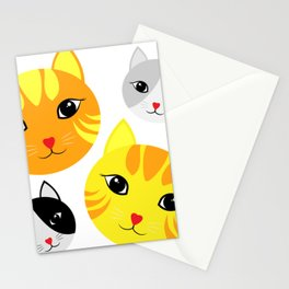 Cat Faces Stationery Cards
