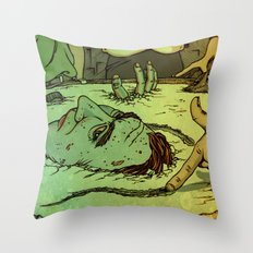 No Deep Breaths Throw Pillow