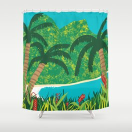 Tropical Island Getaway Shower Curtain