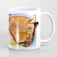 buffalo Mugs featuring BUFFALO by dorc