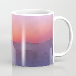 Sunrise with morning fog at a River in Africa  Coffee Mug