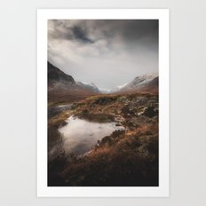 Frozen Mountains Art Print