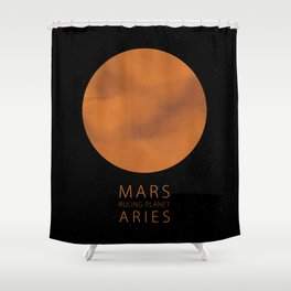 Aries - Ruling Planet Mars Shower Curtain