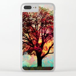 Fall Tree 2 Clear iPhone Case