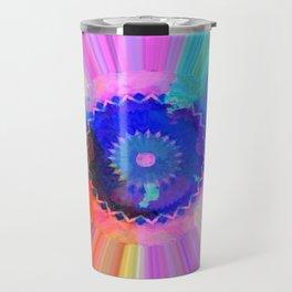 Rainbow Watercolor Striations Travel Mug