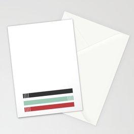 drei einsame streifen Stationery Cards