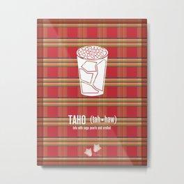 Taho (tofu and pearls in sweet syrup) Metal Print
