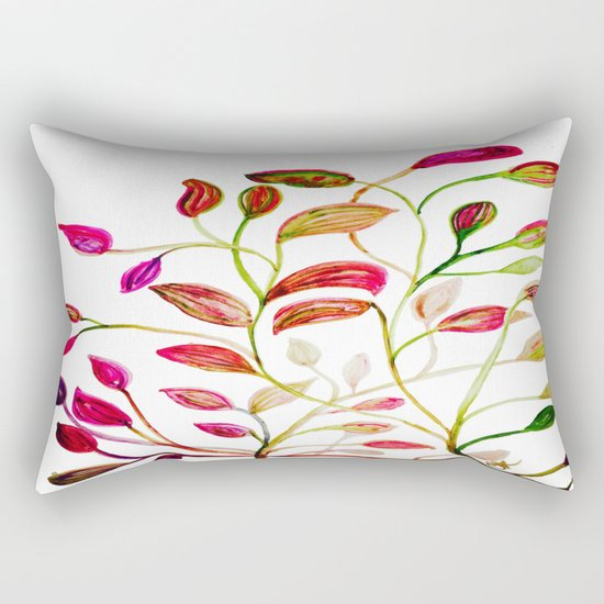 Red and Green Leaves! Happy Holidays! Rectangular Pillow