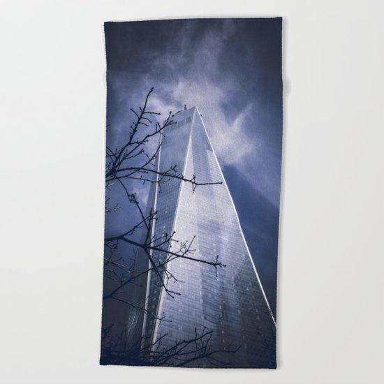 Skyscraper Beach Towel