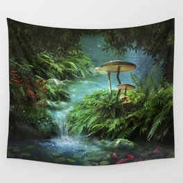 Enchanted Pond Wall Tapestry