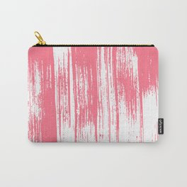 Modern coral white watercolor brushstrokes pattern Carry-All Pouch