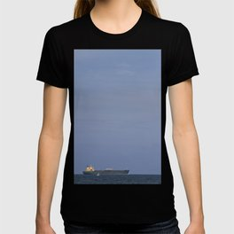 Lonely Boat Off The Miami Beach Shore T-shirt