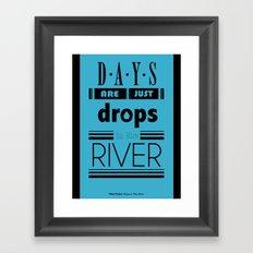 Drops In The River Framed Art Print