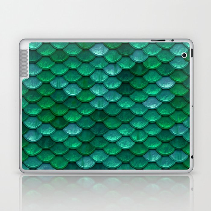 Green Penny Scales Laptop & iPad Skin