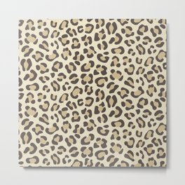 Leopard - Neutral Colors Metal Print