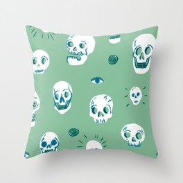 Pattern of Skulls Throw Pillow