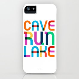 Cave Run Lake Color Pop Art iPhone Case