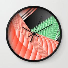 peachy grass plant Wall Clock