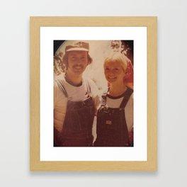Mom and dad honeymoon Framed Art Print