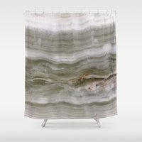 marble Shower Curtains featuring Marble by Santo Sagese