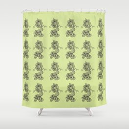 Ancient Gorgon Mythical Mythology Color Pattern Shower Curtain