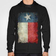 Texas flag, Retro style Vertical Banner Hoody