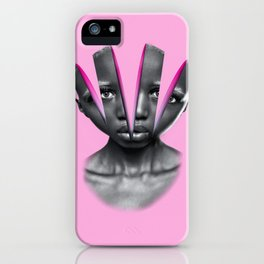 Humain Slices psychedelic iPhone Case