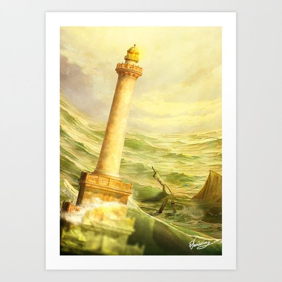 The Fall of Alexandria Art Print