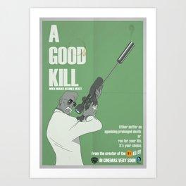 One dollar killer  Art Print