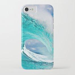 Wave Series Photograph No. 28 - Ocean Blue iPhone Case