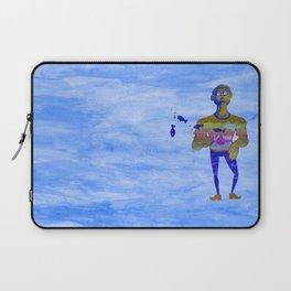Orange guy diving in watercolor Laptop Sleeve