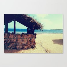 Beach Hut Canvas Print