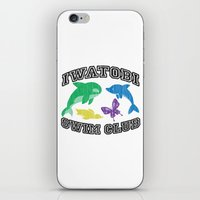 iwatobi iPhone & iPod Skins featuring Iwatobi Swim Club by drawn4fans
