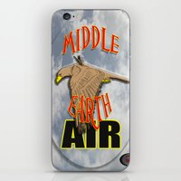 middle earth iPhone & iPod Skins featuring darrell merrill nerd artist: middle earth air by Nerd Artist DM