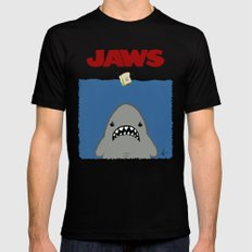 JAWS Black MEDIUM Mens Fitted Tee