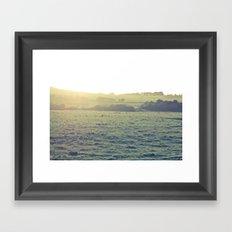 Light in the fields Framed Art Print