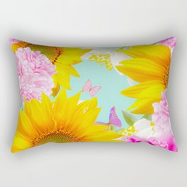 Summer Vibes With Colorful Flowers #decor #society6 #buyart Rectangular Pillow