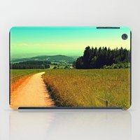 hiking iPad Cases featuring Hiking on a hot afternoon by Patrick Jobst
