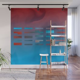 2in1 Pattern Mix, Justin blue Wall Mural