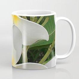 Angel Bright Tropical Plumeria Flowers Coffee Mug