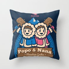 Popo & Nana Throw Pillow