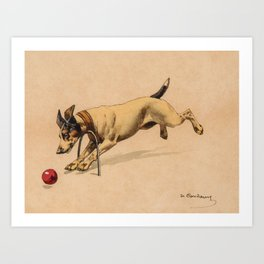 Charles-Fernand de Condamy (1855-1913) La partie de croquet Art Print