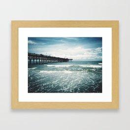 Third Avenue Shark Pier  Framed Art Print