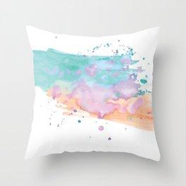 DIGITAL WATERCOLOUR Throw Pillow