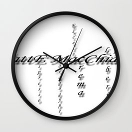 coffees Wall Clock