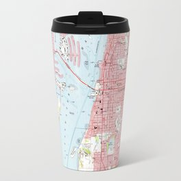 Vintage Map of Clearwater Florida (1974) Travel Mug