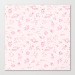 Pink Space Pattern Canvas Print