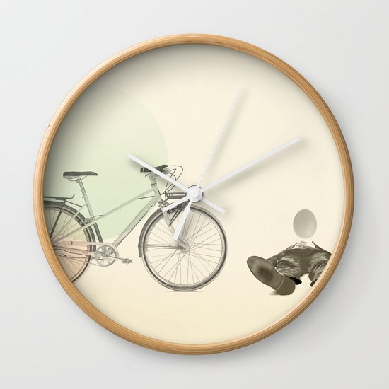 bad egg Wall Clock