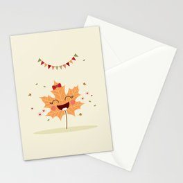 Feuille d'automne Stationery Cards