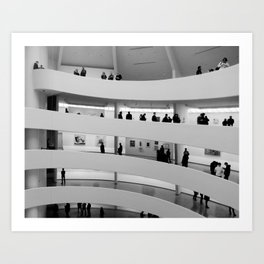 People at Guggenheim Museum Art Print